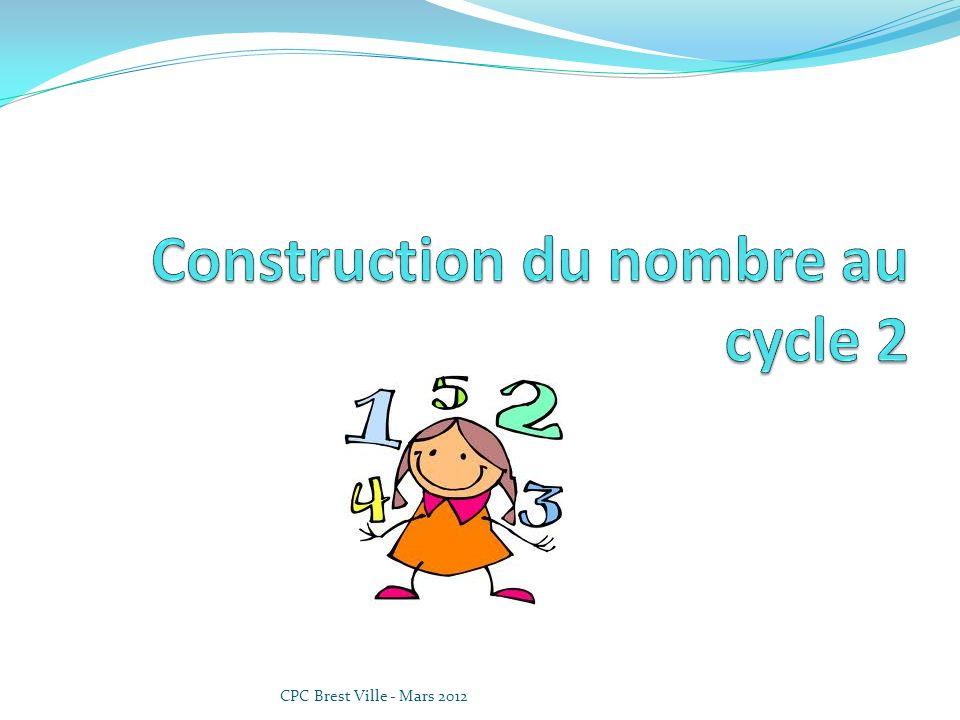 Construction du nombre au cycle 2