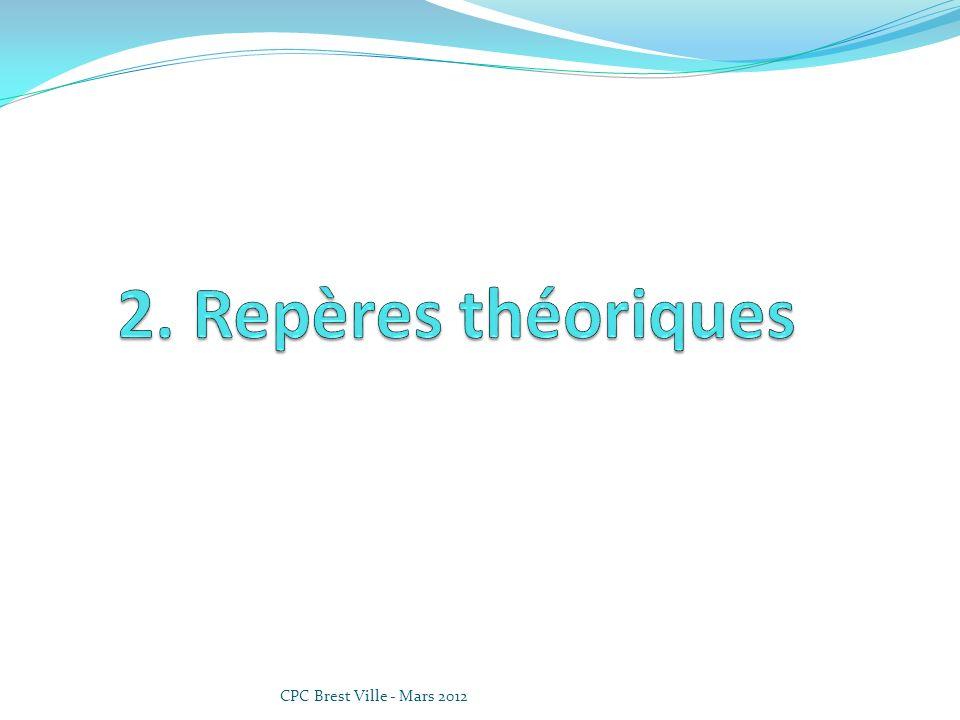 2. Repères théoriques CPC Brest Ville - Mars 2012
