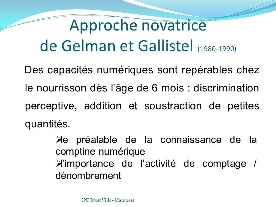 Approche novatrice de Gelman et Gallistel (1980-1990)