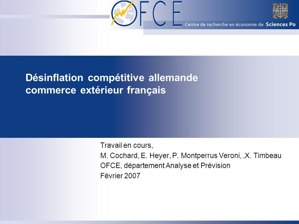 Désinflation compétitive allemande commerce extérieur français
