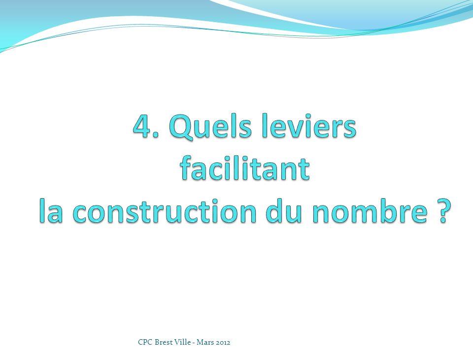4. Quels leviers facilitant la construction du nombre