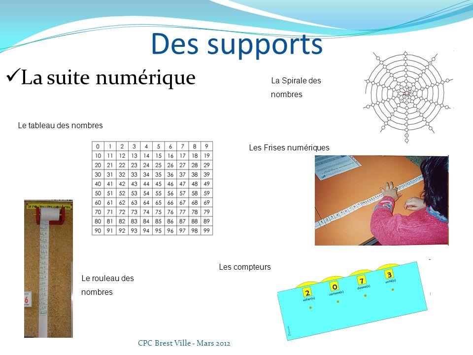 Des supports La suite numérique La Spirale des nombres
