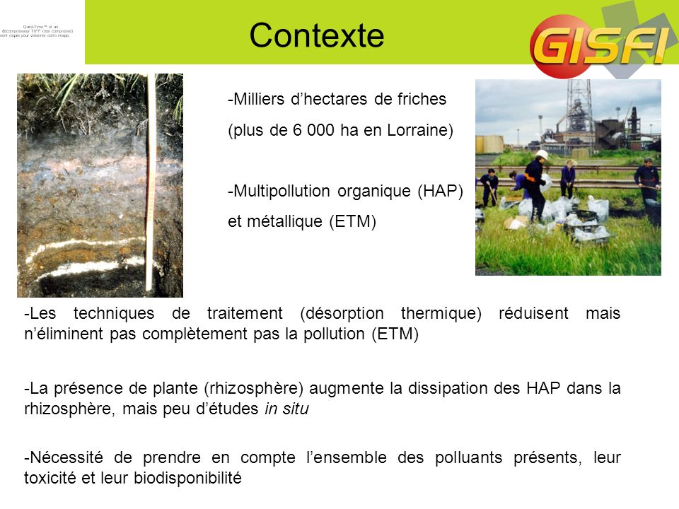 Contexte -Milliers d'hectares de friches