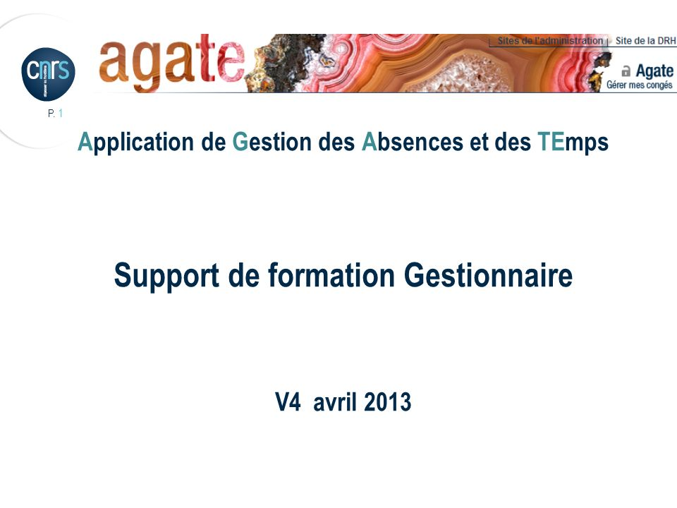 Support de formation Gestionnaire