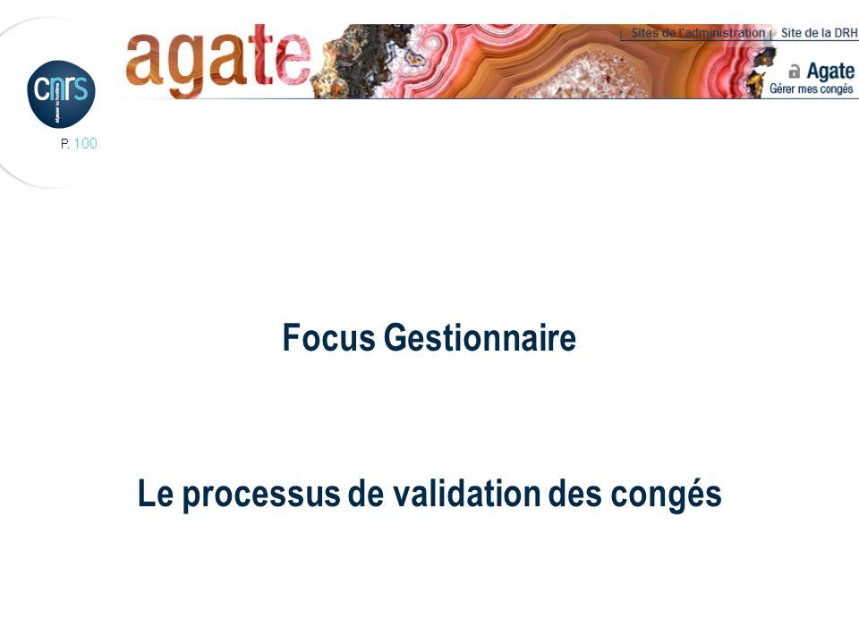 Focus Gestionnaire Le processus de validation des congés