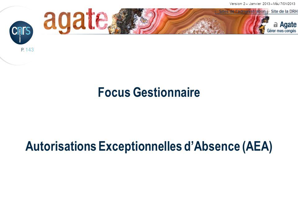 Focus Gestionnaire Autorisations Exceptionnelles d'Absence (AEA)