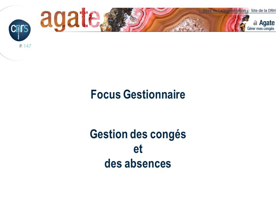 Focus Gestionnaire Gestion des congés et des absences