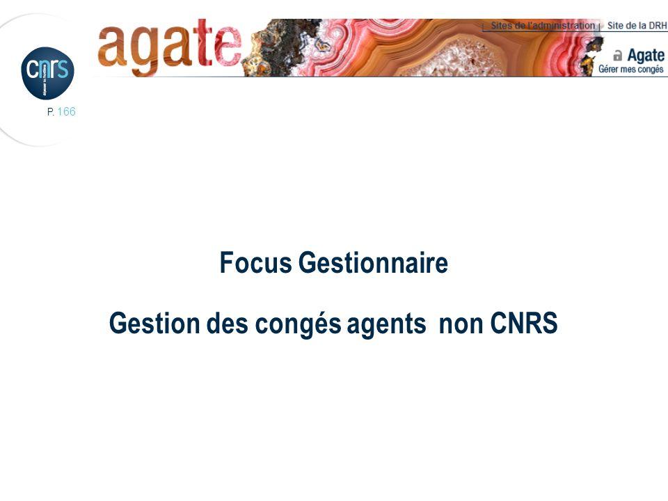 Focus Gestionnaire Gestion des congés agents non CNRS