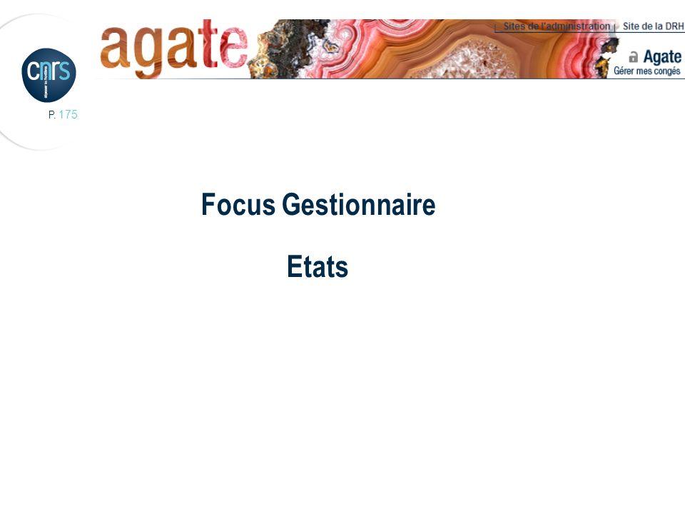 Focus Gestionnaire Etats