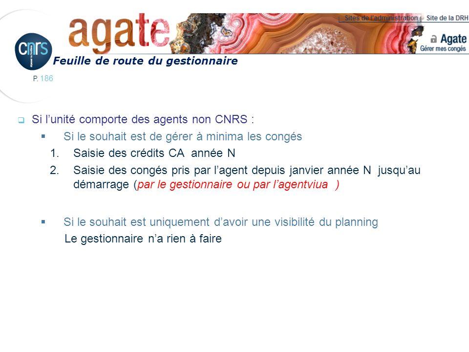 Si l'unité comporte des agents non CNRS :