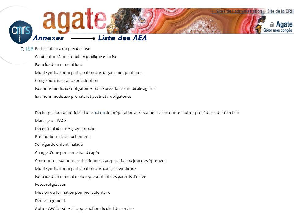 Annexes Liste des AEA Participation à un jury d assise