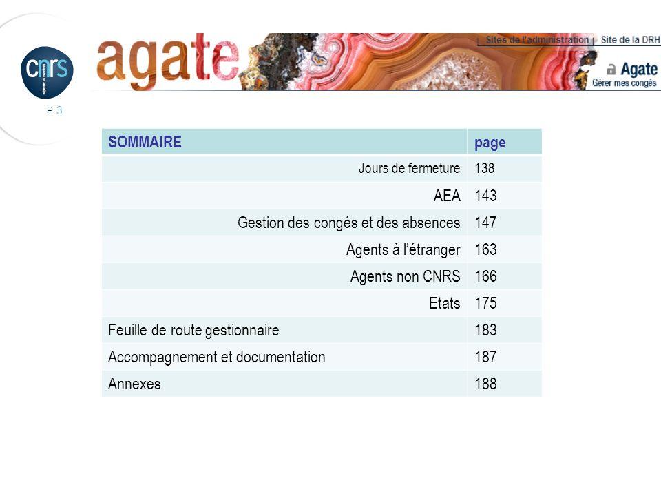 Gestion des congés et des absences 147 Agents à l'étranger 163