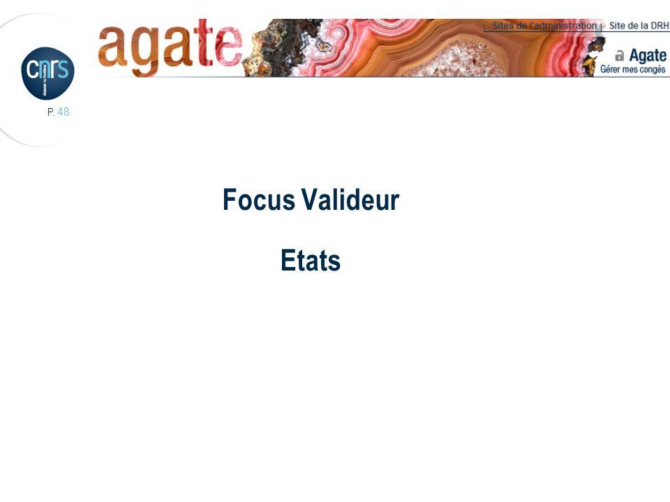Focus Valideur Etats