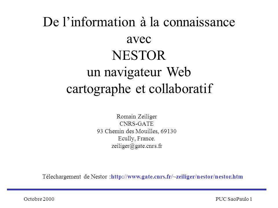 De l'information à la connaissance avec NESTOR un navigateur Web cartographe et collaboratif