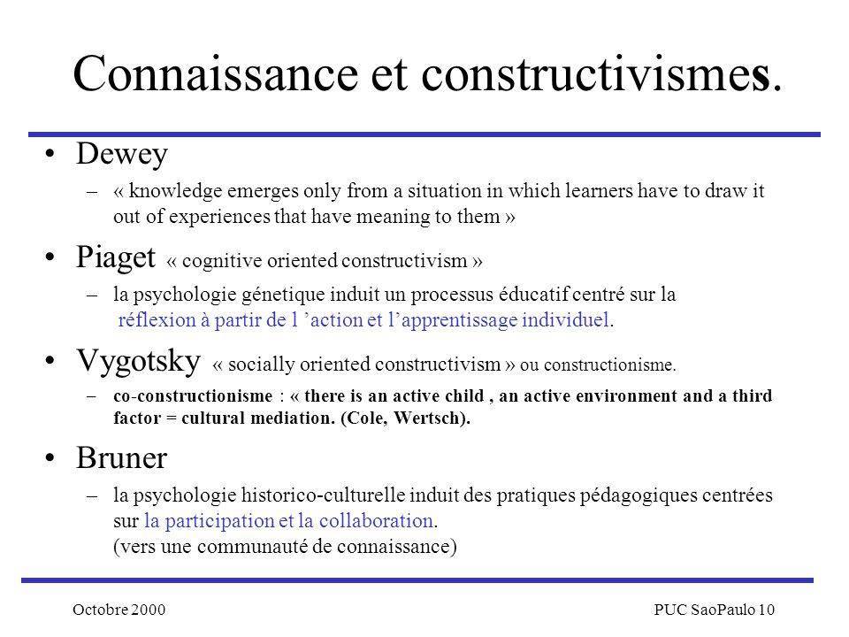Connaissance et constructivismes.