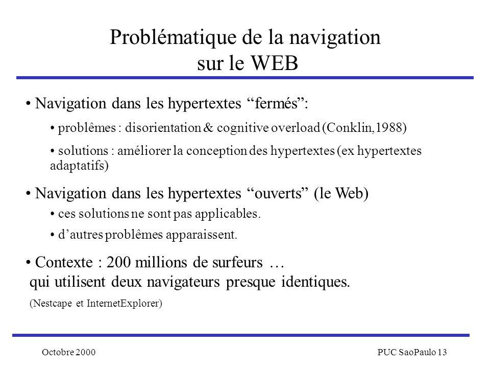Problématique de la navigation sur le WEB