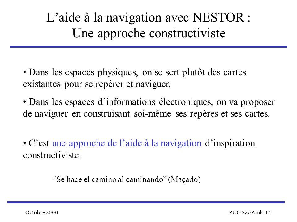 L'aide à la navigation avec NESTOR : Une approche constructiviste
