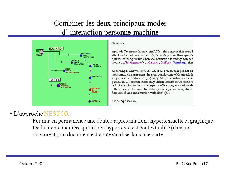 Combiner les deux principaux modes d' interaction personne-machine
