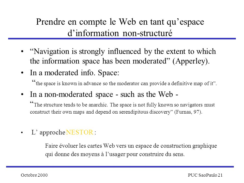 Prendre en compte le Web en tant qu'espace d'information non-structuré