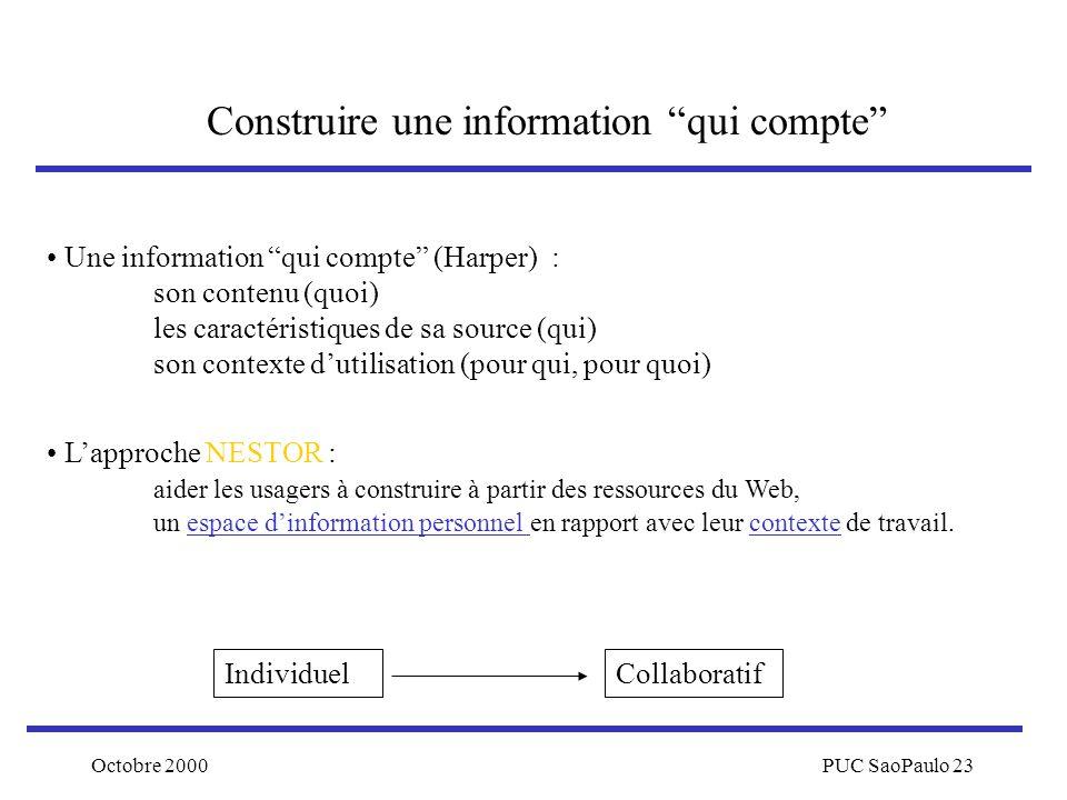 Construire une information qui compte