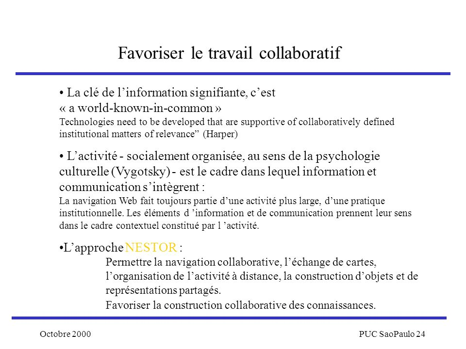 Favoriser le travail collaboratif