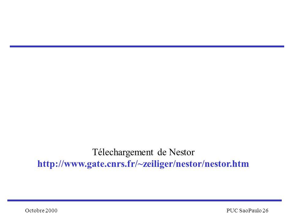 Télechargement de Nestor http://www. gate. cnrs