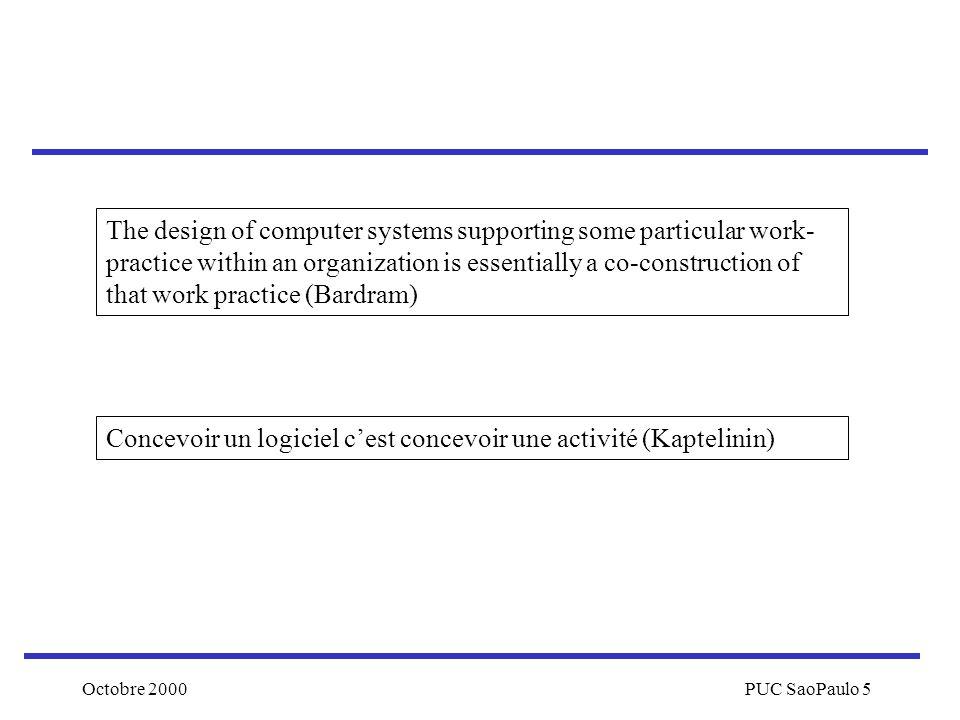 Concevoir un logiciel c'est concevoir une activité (Kaptelinin)