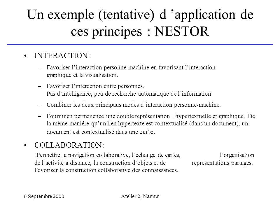 Un exemple (tentative) d 'application de ces principes : NESTOR