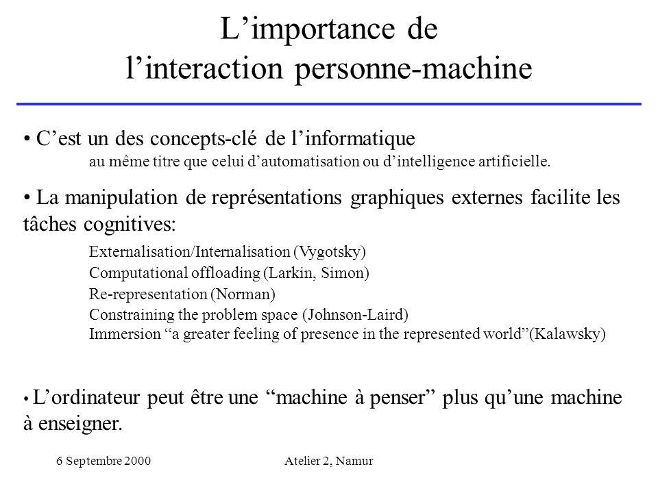 L'importance de l'interaction personne-machine