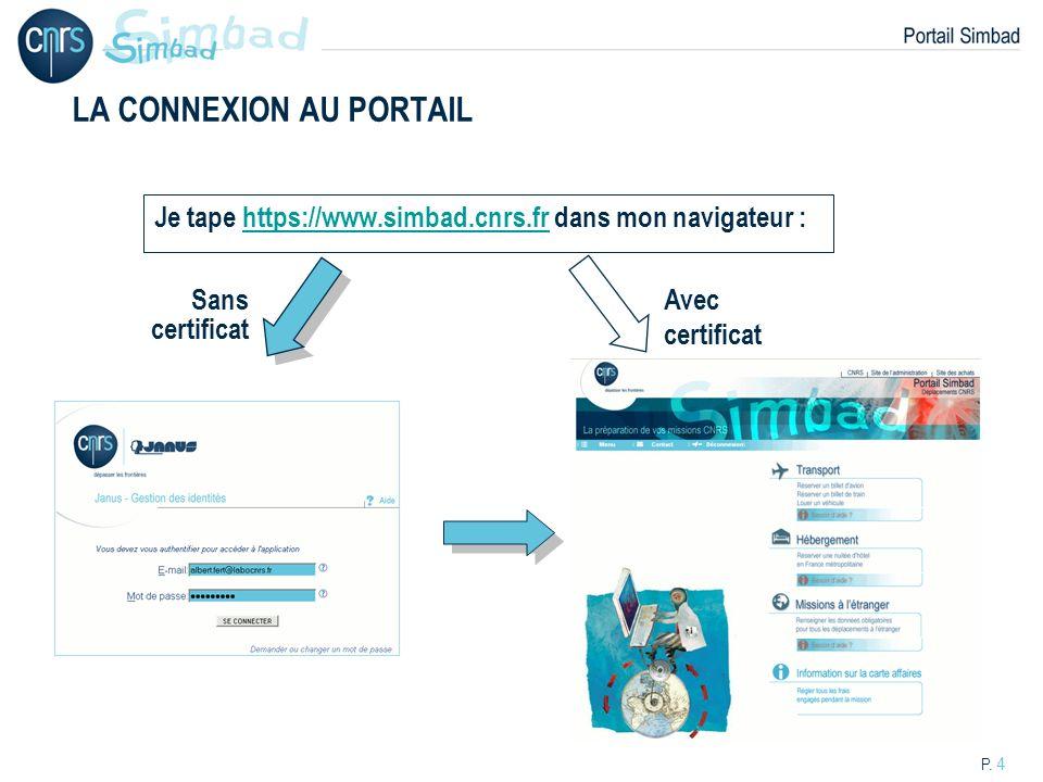 LA CONNEXION AU PORTAIL