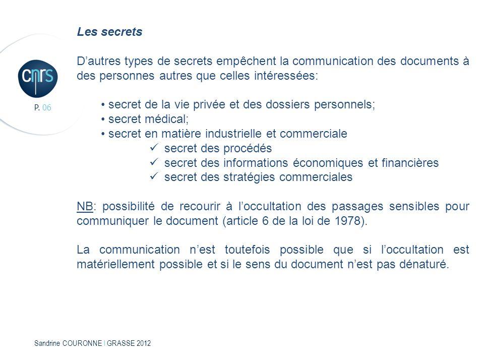 • secret de la vie privée et des dossiers personnels;