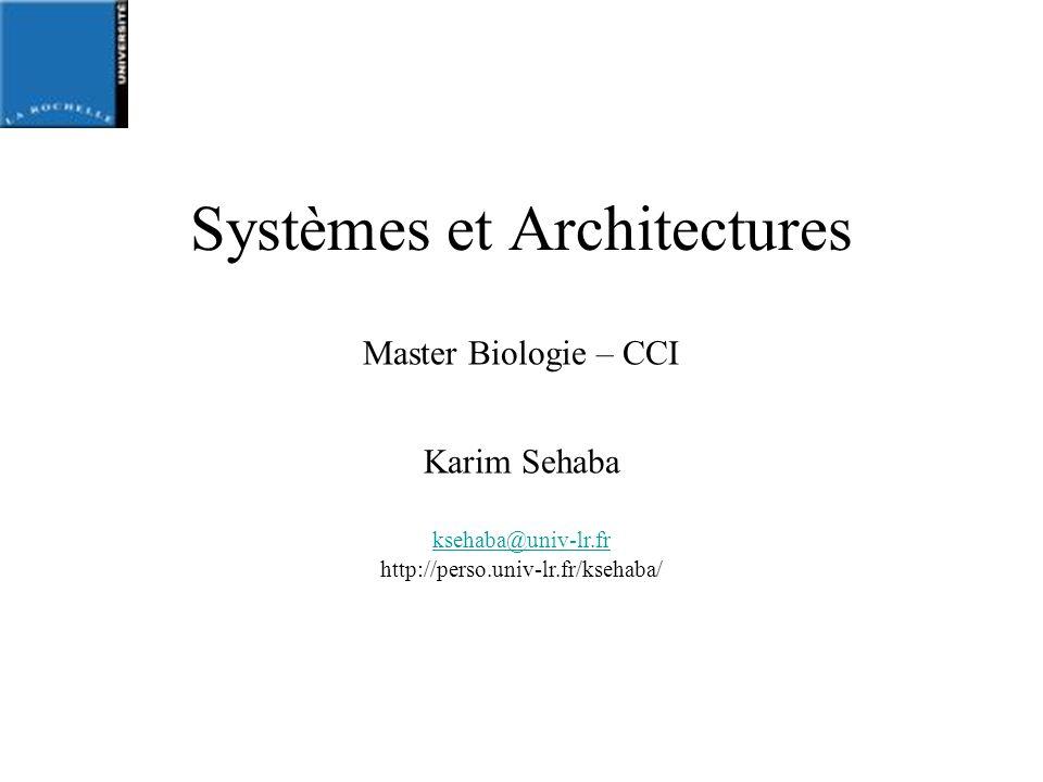 Systèmes et Architectures