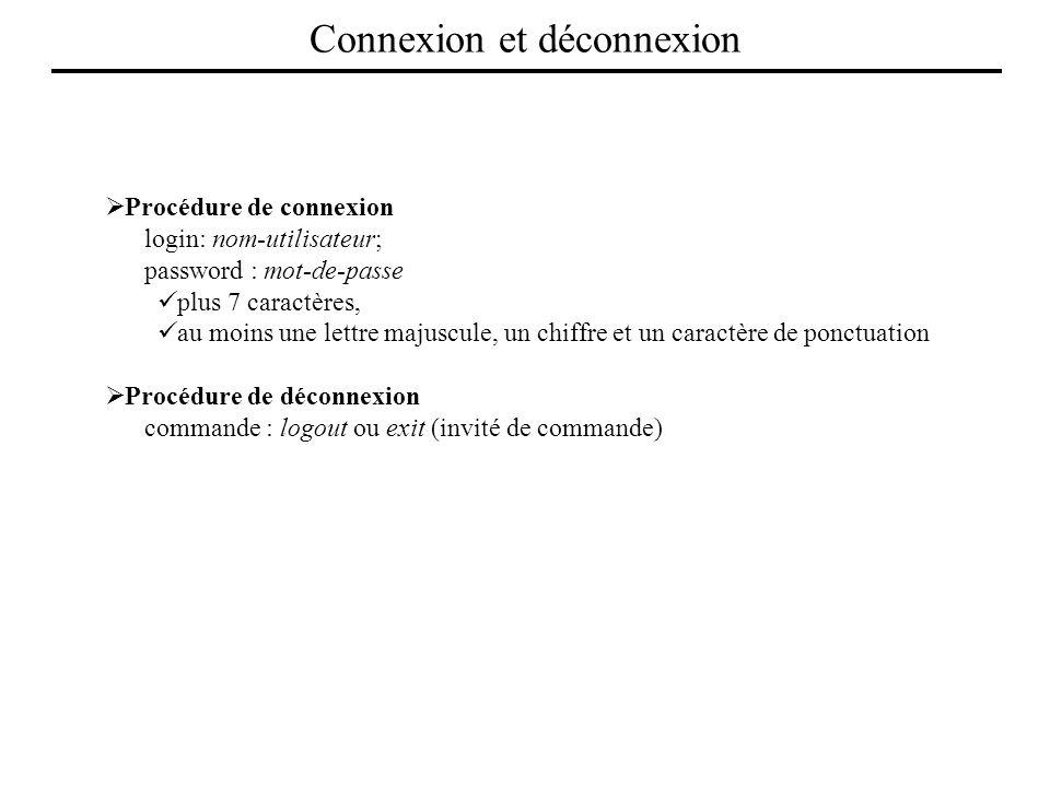 Connexion et déconnexion