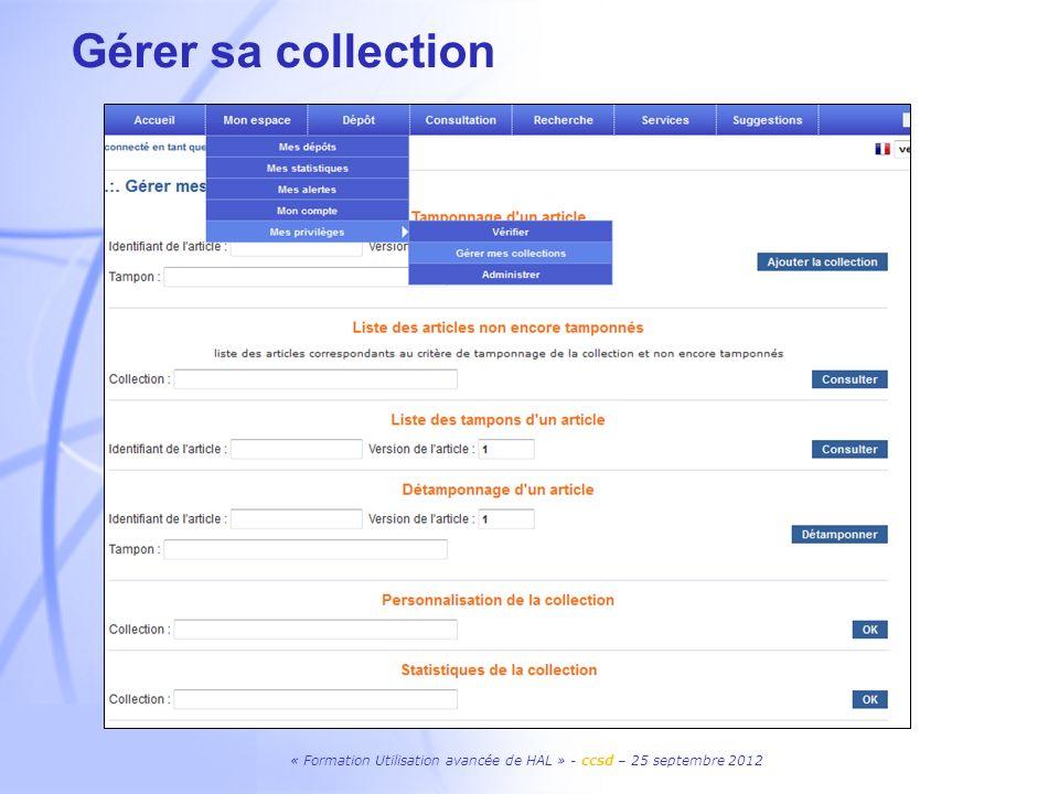 Gérer sa collectionPossibilité de recevoir son mot de passe par mail à partir de son login ou de son adresse mail en cas d'oubli.