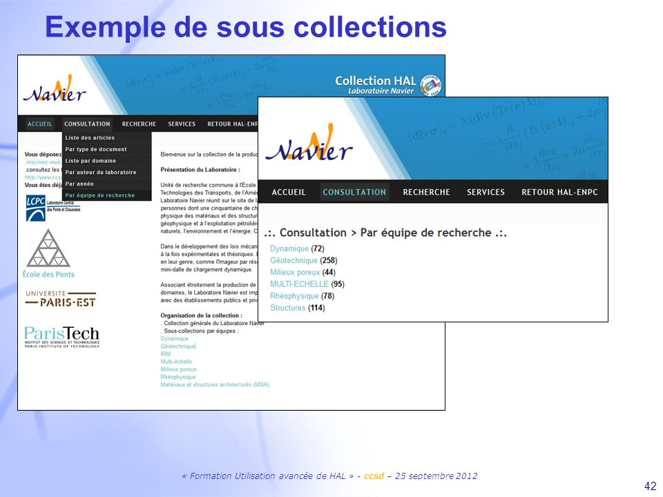 Exemple de sous collections