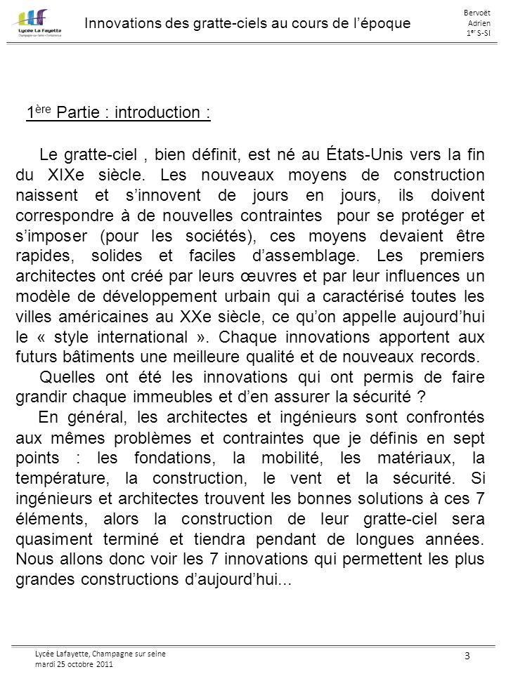 1ère Partie : introduction :