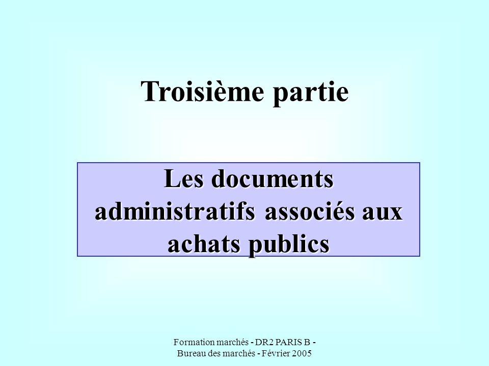 Les documents administratifs associés aux achats publics