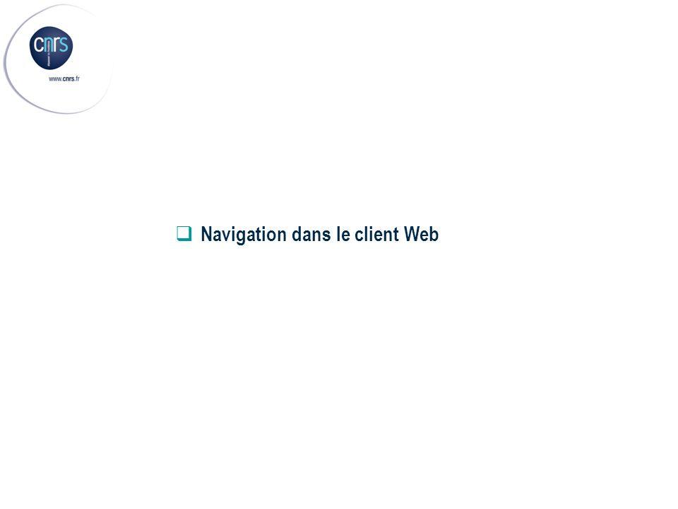 Navigation dans le client Web