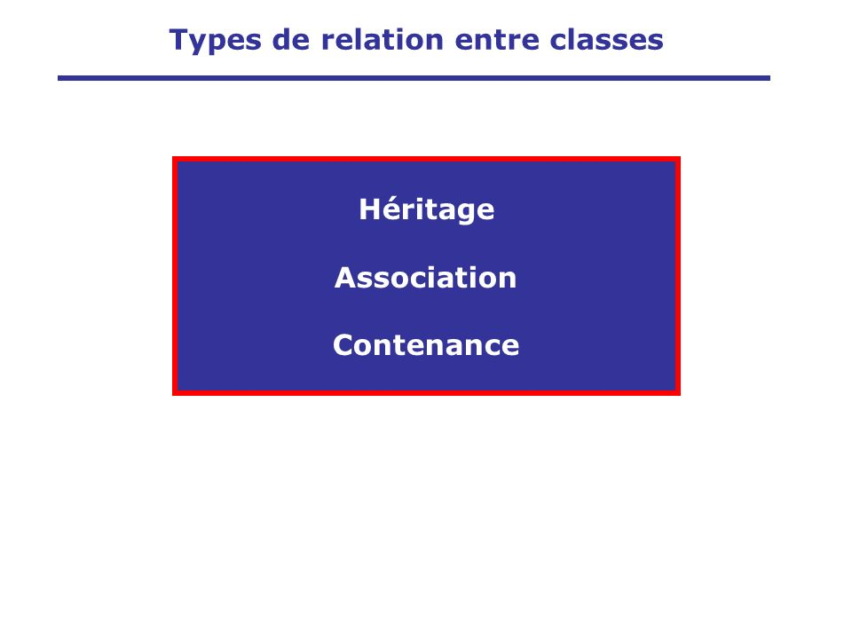 Types de relation entre classes