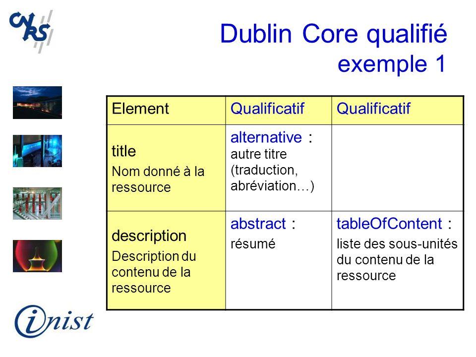 Dublin Core qualifié exemple 1