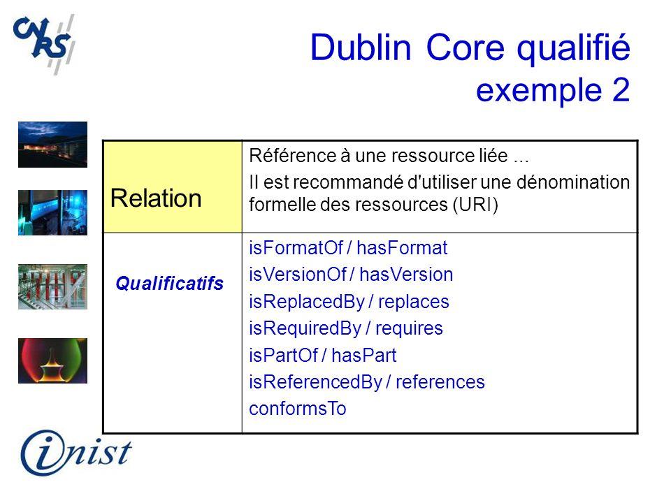 Dublin Core qualifié exemple 2