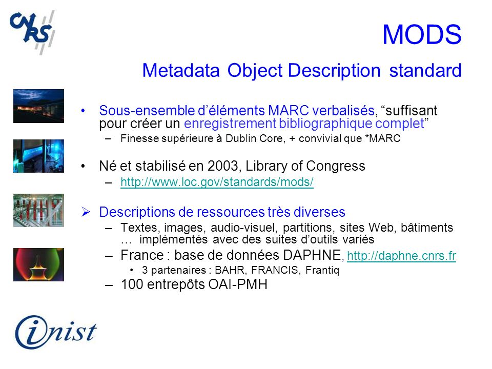 MODS Metadata Object Description standard