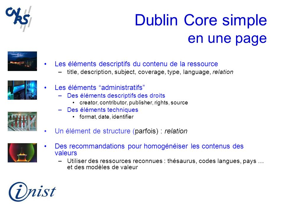 Dublin Core simple en une page