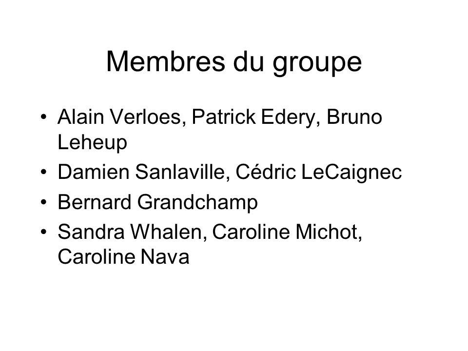 Membres du groupe Alain Verloes, Patrick Edery, Bruno Leheup