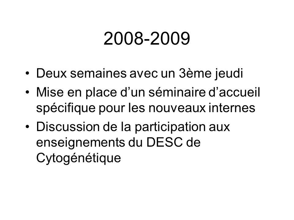 2008-2009 Deux semaines avec un 3ème jeudi