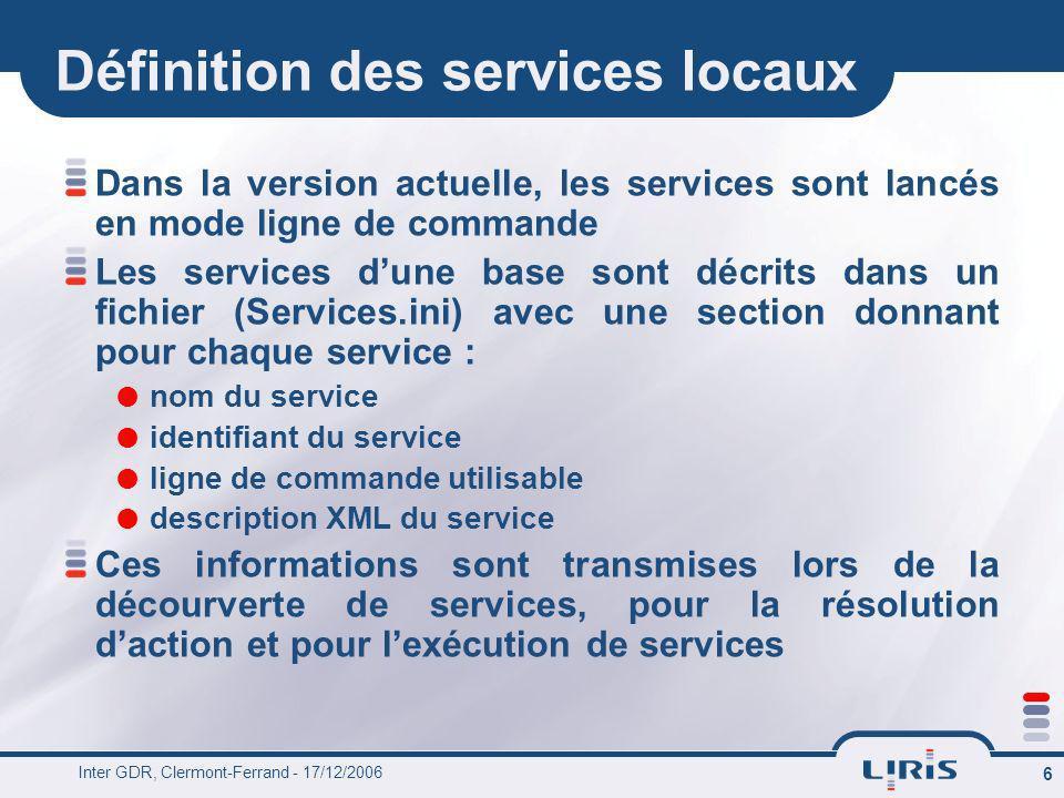 Définition des services locaux
