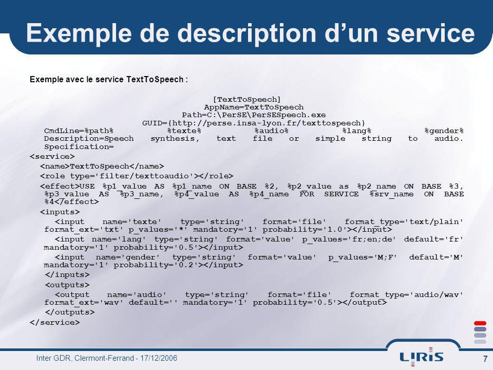 Exemple de description d'un service