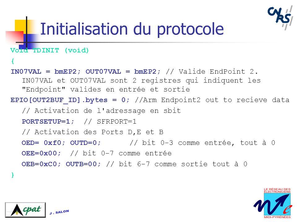 Initialisation du protocole