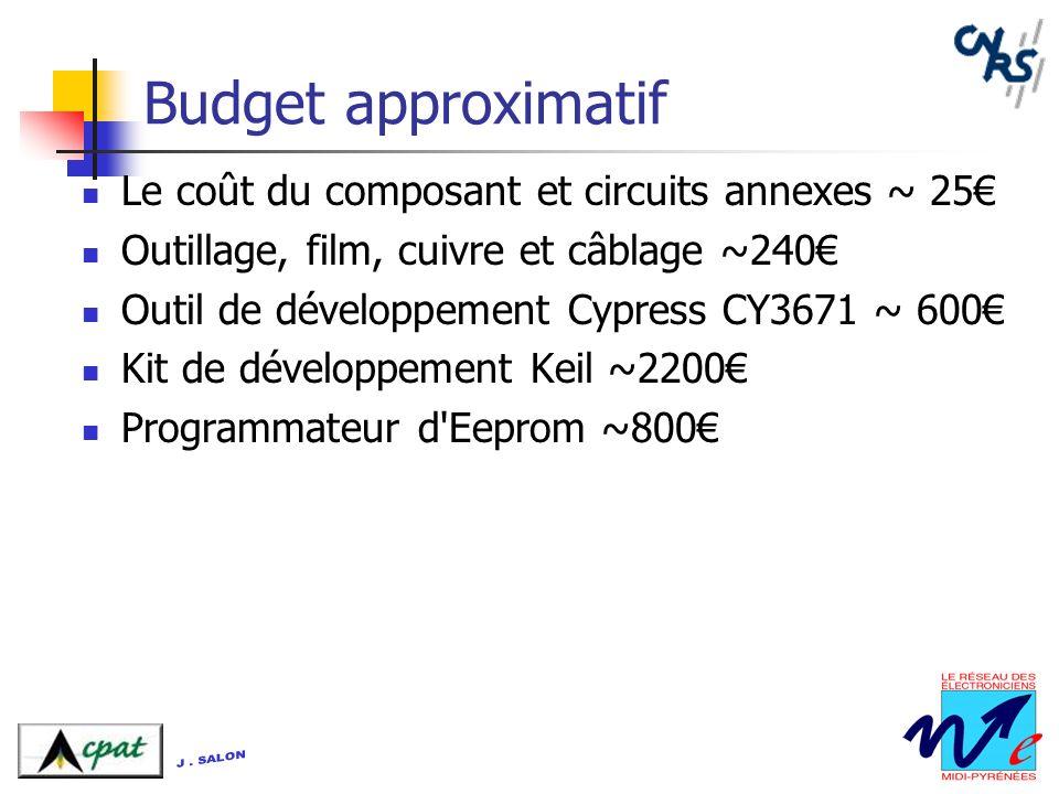 Budget approximatif Le coût du composant et circuits annexes ~ 25€
