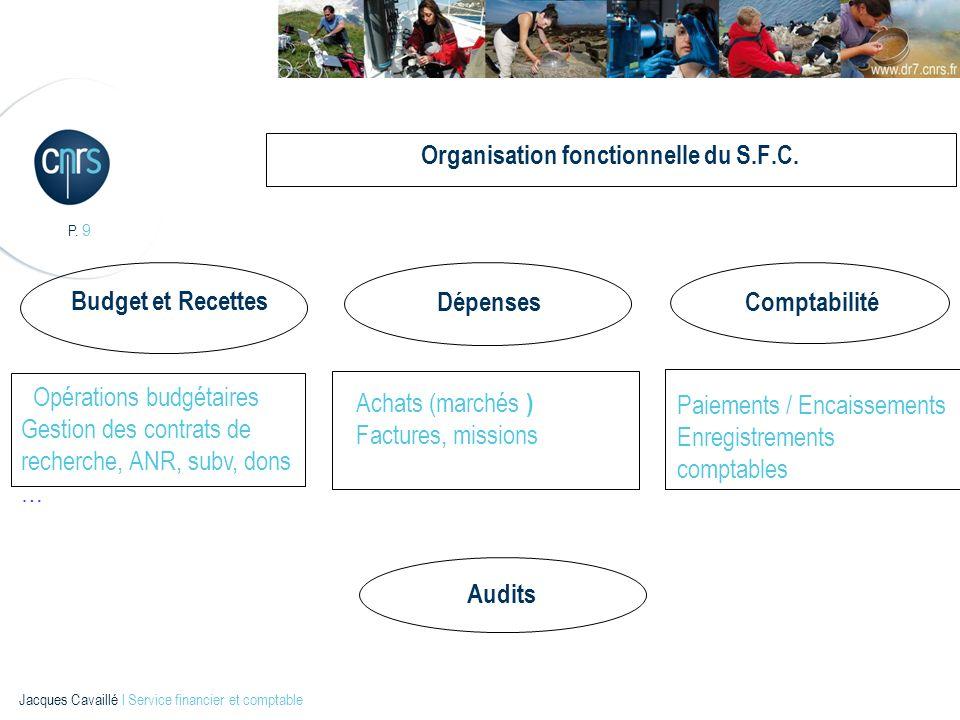 Organisation fonctionnelle du S.F.C.